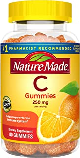 Nature Made Vitamin C Gummies 250 mg, 80 Count, For Immune Support, Antioxidant Support, Collagen Support for Skin Health