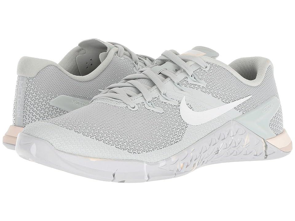 Nike Metcon 4 (Light Silver/White/Guava Ice/Mica Green) Women