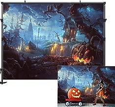 Allenjoy Halloween Theme Photography Backdrop 7x5ft Pumpkin Halloween Decorations Decor Backdrop for Photography Horrible Party Children Adult Decoration Photography Photo Booth Prop