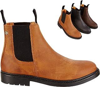 Chelsea Boot »NEW WORK« comfortabele enkellaarzen gemaakt van rundleer Made in Portugal | Rijschoen met robuuste rubberen ...