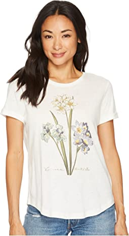 Petite Floral Linen-Blend T-Shirt