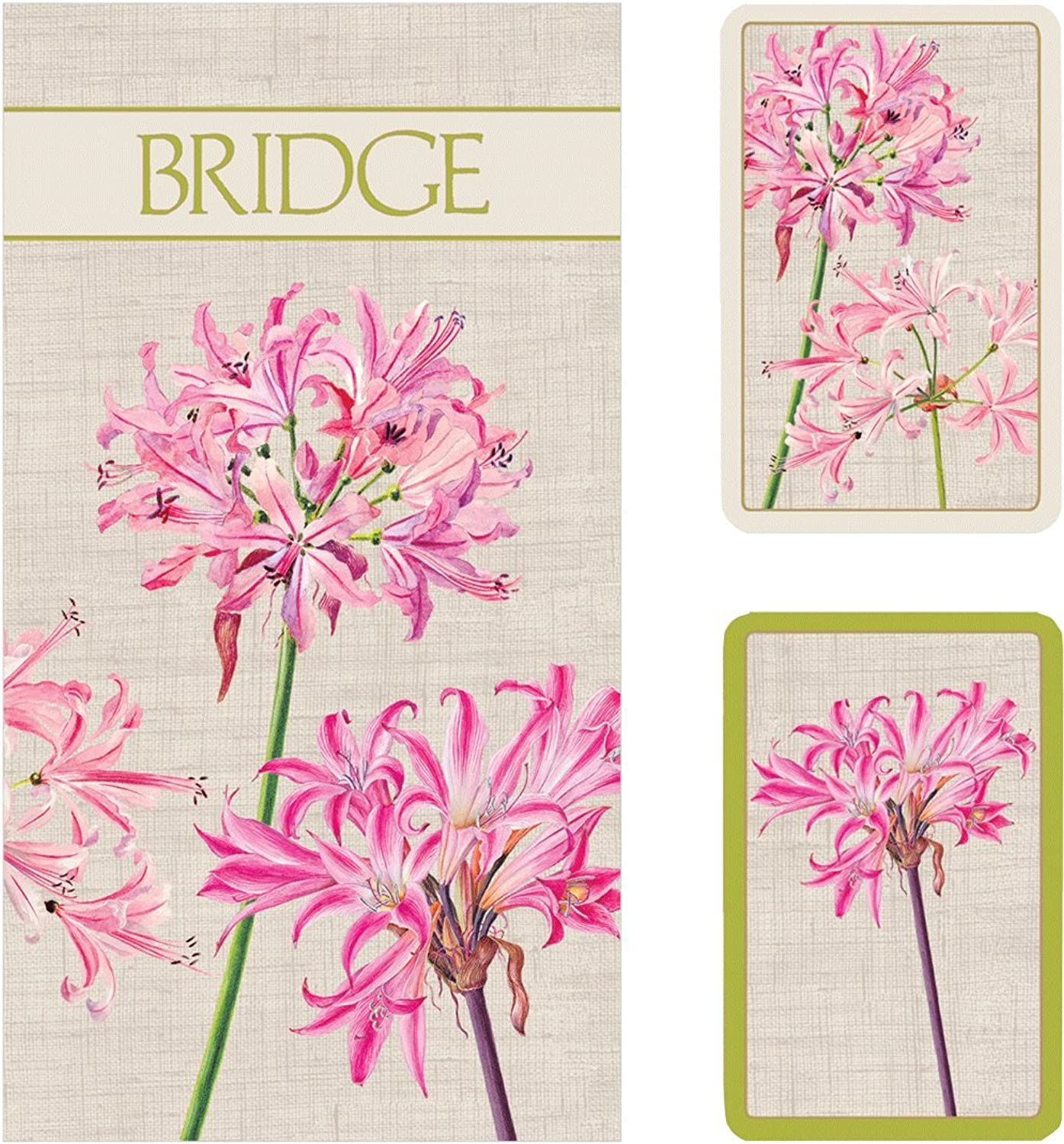 Entertaining with Caspari Bridge Playing Card Gift Set, Surprise Lily