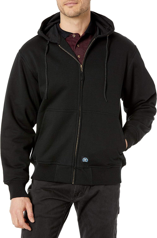 Key Apparel Men's Premium Heavy Weight Thermal Lined Hooded Sweatshirt, Black, Medium Tall