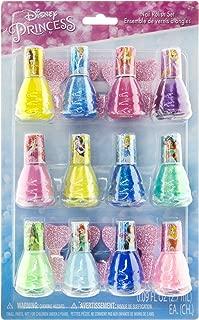 Townley Girl Disney Princess Peel-Off Nail Polish Gift Set for Kids, 12 Count