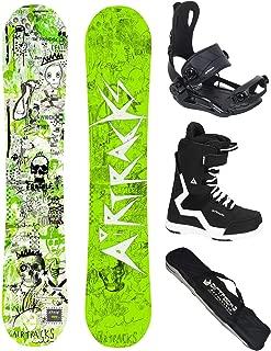 AIRTRACKS Snowboard Set (Paquete Completo) Tabla Dreamcatcher Neon Wide (Hombre)+Fijaciones Master+Botas+SB Bolsa/Nuevo