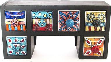 Hiba Enterprises Wooden Chest with Ceramic Box Drawer