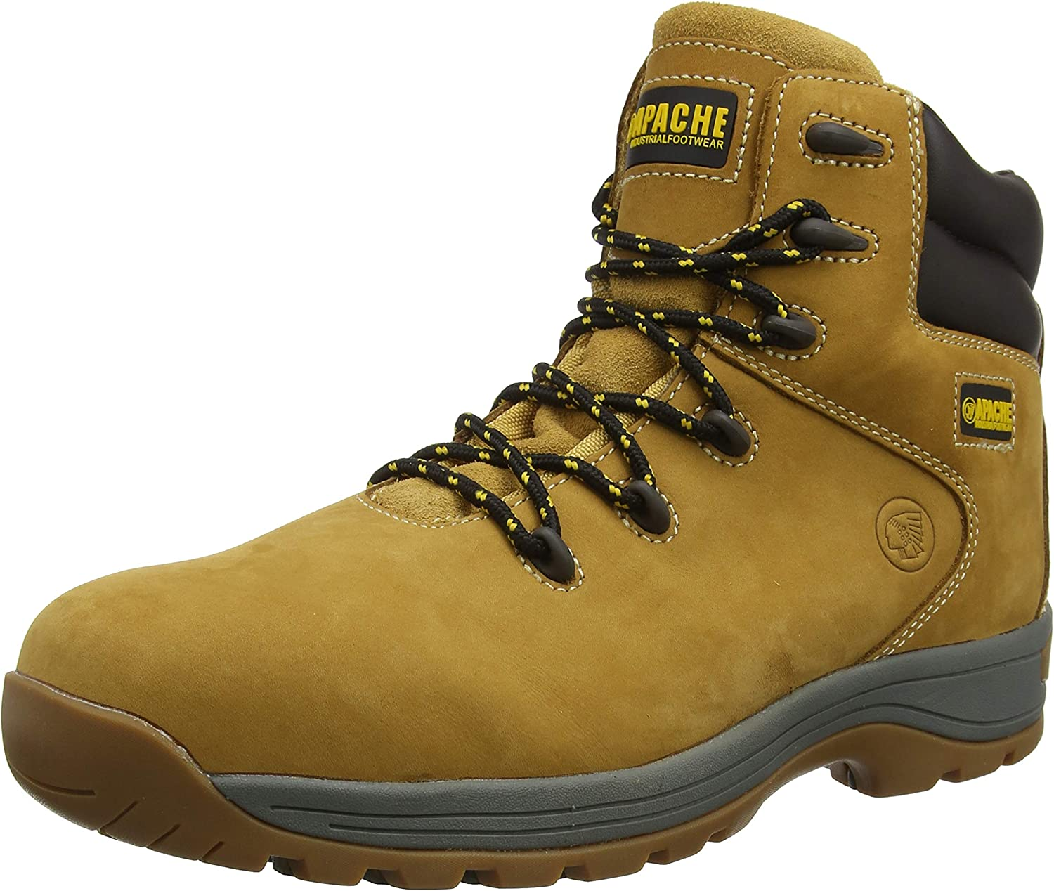 Apache Unisex-Adult AP314CM Safety Boots Wheat 11 UK Wide