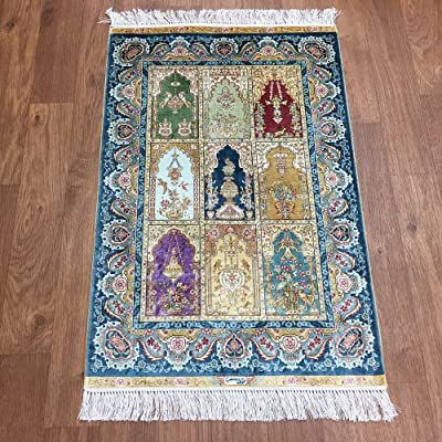 Yuchen New 2x3 Four Seasons Garden Scene Carpets Top Flooring Handmade Silk Area