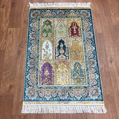 Yuchen New 2x3 Four Seasons Garden Scene Carpets Top Flooring Handmade Silk Area