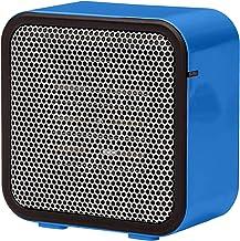 VIY Calefactor eléctrico de cerámica de 600 W, 10-28 °C, bajo consumo, silencioso, con función de oscilación, con protección contra sobrecalentamiento (azul)