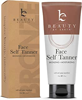 Self Tanner for Face with Organic & Natural Ingredients, Tanning Lotion, Sunless Tanning Lotion for Flawless Darker Bronzer Skin, Self Tanning Lotion - Self Tanners Best Sellers, Fake Tan (1 Pack)