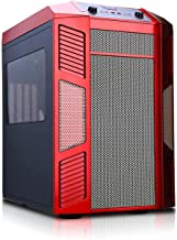 Rexgear 1 Micro ATX Cube Computer Case with Removable Trays for Easy Installation, Red
