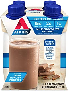ATKINS Advantage Milk Chocolate Delight Shake 11 OZ (325 ml) (Pack of 12)