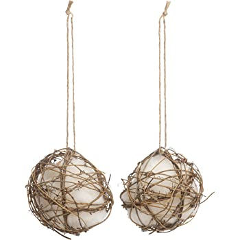 Besti Set of 2 Globe Hummingbird Nesters Cotton Nesting Material for Hummingbirds, Wrens, Finches & More   Refillable Outdoor Bird Nesting Station for Birdwatching & Bird Lovers