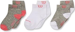 Wilson 8211 Calcetines para Bebé-Niñas, Multicolor, Talla Única (Paquete de  3 Piezas)