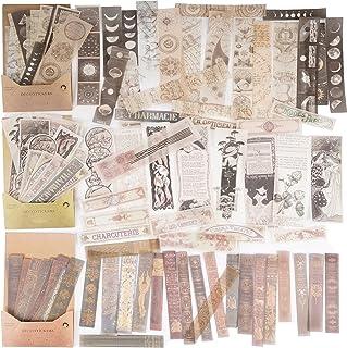 120Feuilles Autocollants Papiers Journal Bullet Scrapbooking Stickers Adhésif Etiquettes Vintage Décoratifs Artisanat Scra...