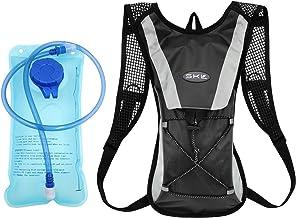 SKL Mochila de hidratación con 2l Mochila de hidratación Vejiga del Agua Mochila de Senderismo Mochila de Ciclismo para Escalada Camping Correr