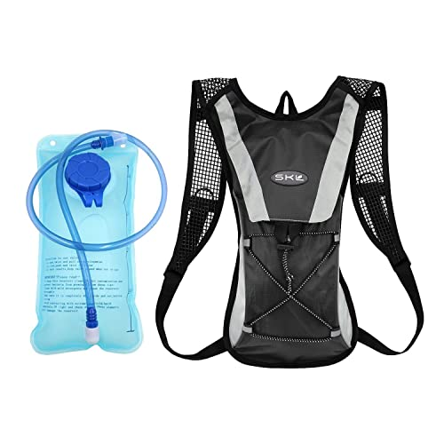 SKL Backpack Water Bag Hydration Backpack With 2L Hydration Pack Water Bladder Hiking Backpack Cycling Rucksack Climbing Camping Running Bags