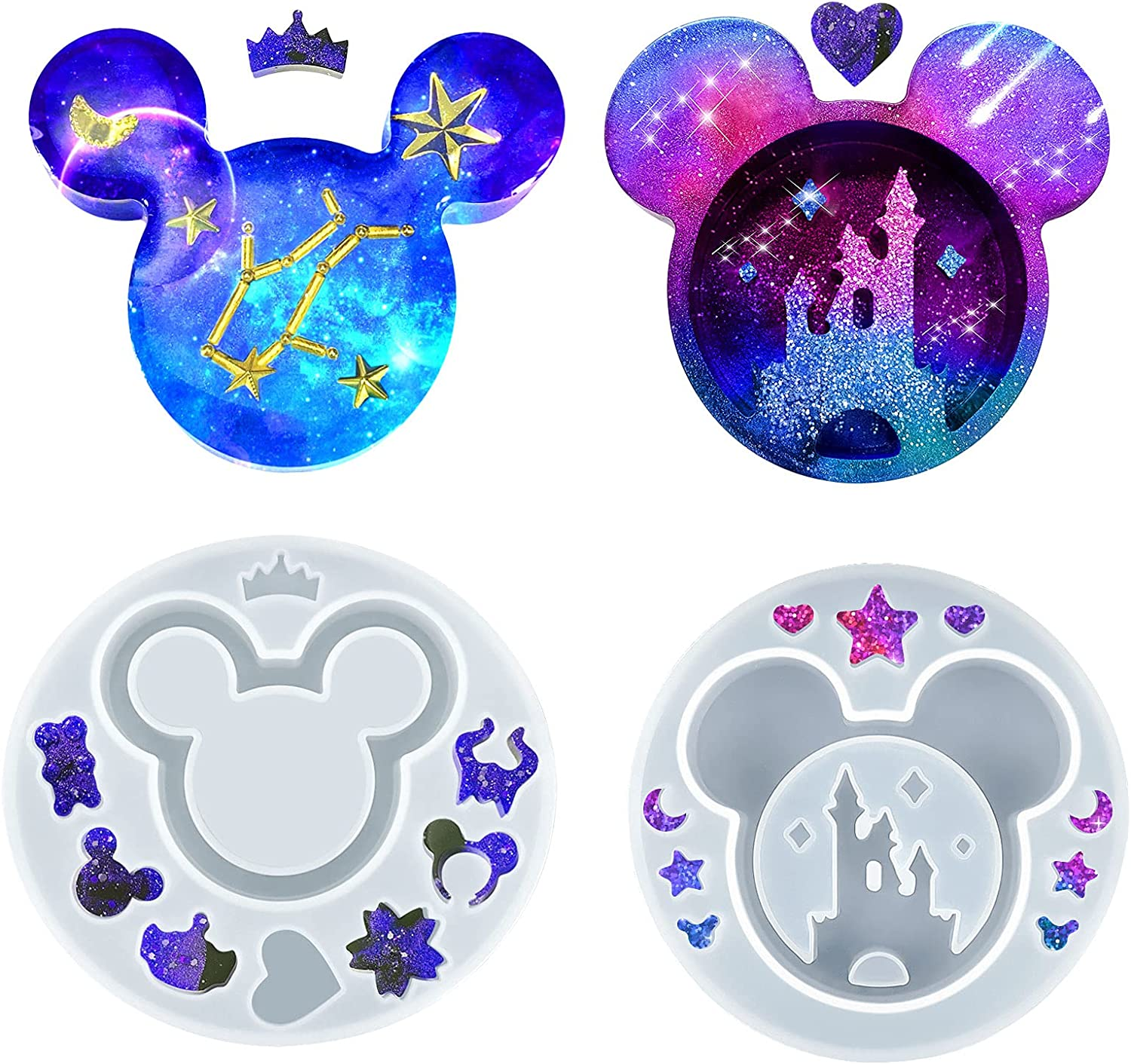 Palksky 2 Long-awaited PCs Resin Molds for Head Silicone Cute Mouse Miami Mall Bo Castle