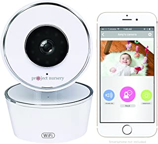 Project Nursery Alexa Enabled 720p WiFi Camera (Pan/Tilt/Zoom), White