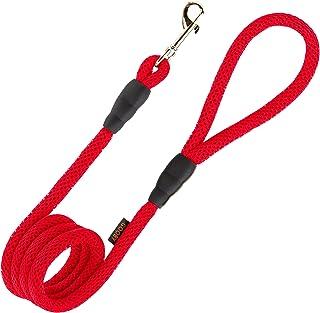 Gooby - Mesh Leash, 4 Feet Dog Leash, Red