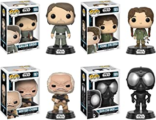 Funko Star Wars POP! Rouge One W2 Galen Erso Young Jyn Erso Weeteef Cyubee Death Star Droid Collectible Set