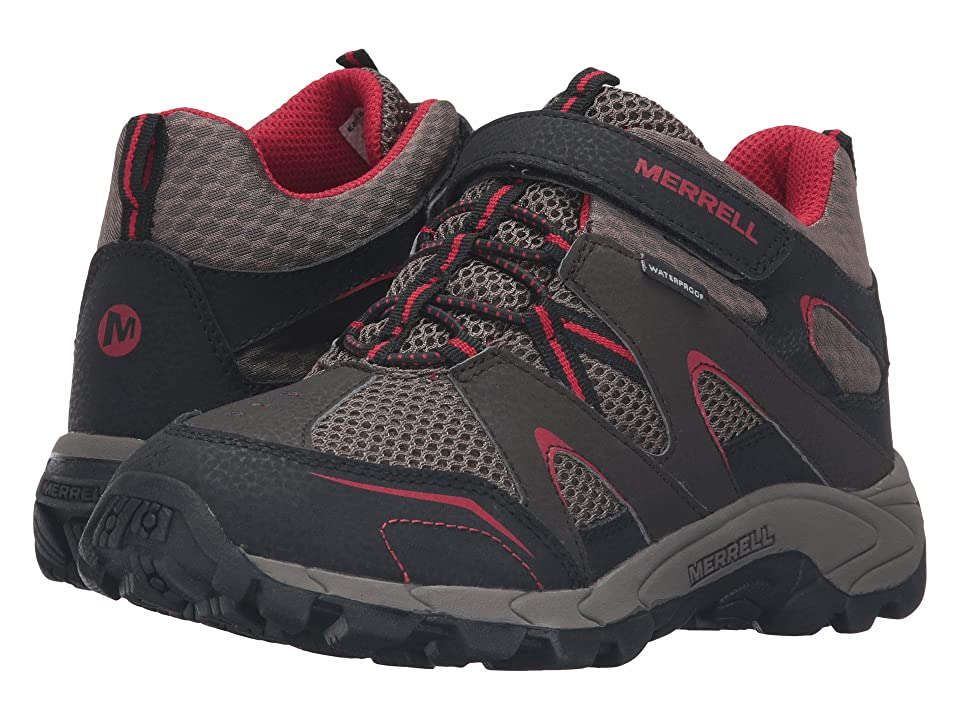 Merrell Kids Hilltop Mid Quick Close Waterproof (Big Kid) (Brown Suede/Mesh) Boys Shoes