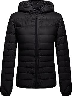 Women's Packable Hooded Lightweight Down Jackets Puffer Coats
