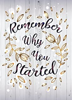 iCandy Products Inc Remember Why You Started Motivational Inspirational Wall Decor Home Art Print, Small Signs - Metal - 7.5x10.5