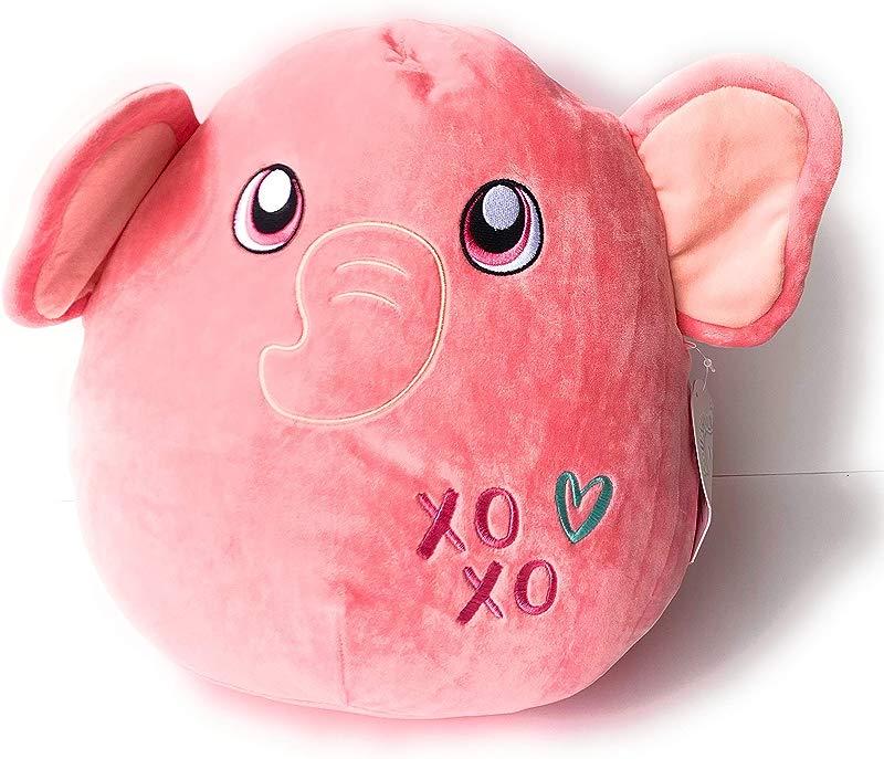 Squishmallow Kellytoy 12 Inch Pink Elephant Super Soft Plush Toy Pillow Pet Ethan