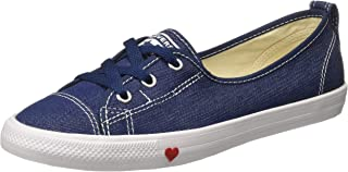Converse Women's Textile Indigo/White/Enamel Red Sneakers-5 UK/India (37.5 EU) (8907788166282)