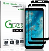 amFilm Glass Screen Protector for Google Pixel 3a XL (2 Pack), Full Screen Coverage, 3D Curved, Dot Matrix Tempered Glass ...