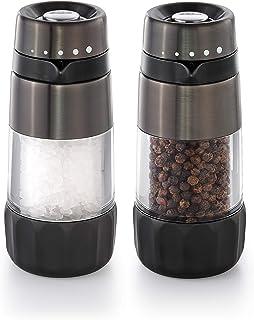 OXO Good Grips Salt & Pepper Grinder Set, Black Stainless Steel