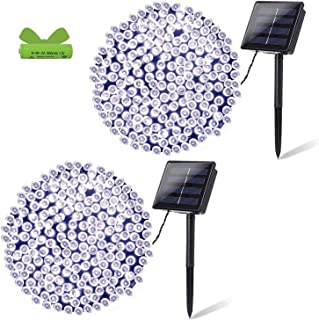OZS- 2Pack Each 72FT 200LED Solar Lights Outdoor, Super Bright Solar String Lights Outdoor Waterproof, 8 Modes Solar Fairy...