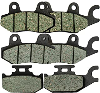 Foreverun Motor Front and Rear Brake Pads for Yamaha YXR 660 YXR660 Rhino 2004-2007