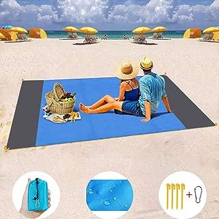 SONGMICS 200 x 200 cm Manta de Picnic Impermeable Alfombra Acolchada para Jard/ín Camping Playa Multiusos Port/átil GCM77T