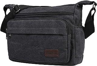 JAKAGO Bolsa bandolera impermeable con múltiples bolsillos para hombres y mujeres, bolsa de viaje casual de lona para trab...