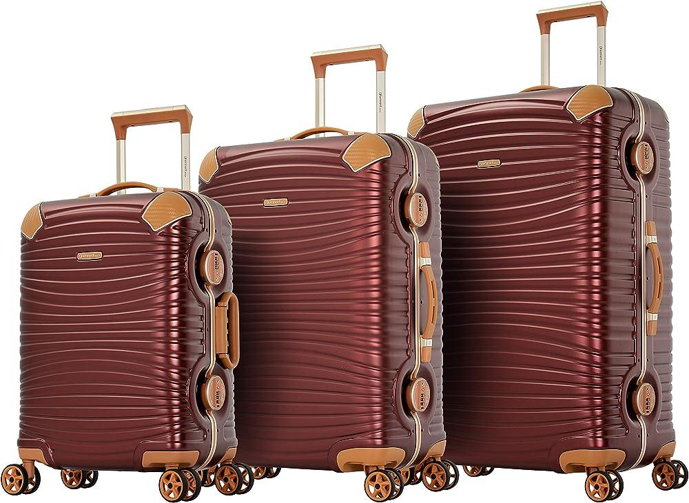 Eminent gold set di valigie jetstream 3 pz telaio in alluminio Jestream