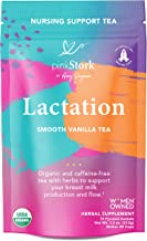 Pink Stork Lactation Tea: Smooth Vanilla Nursing Support, USDA Organic, Supports Breastfeeding + Improves Milk Supply with Fenugreek, Women-Owned, 30 Cups