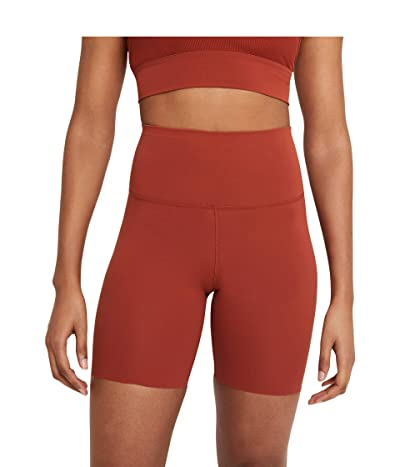 Nike The Yoga Luxe 7 Shorts (Rugged Orange/Light Sienna) Women