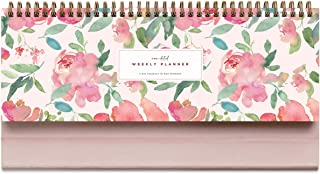 """Belle Fleur Non-Dated Spiral Weekly 60 Week Pad, 3.75"""" x 10.5"""", La Lune Collection by Bright Day"""