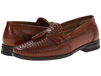 Nunn Bush Strafford Woven Moc Toe Loafer (Cognac) Men