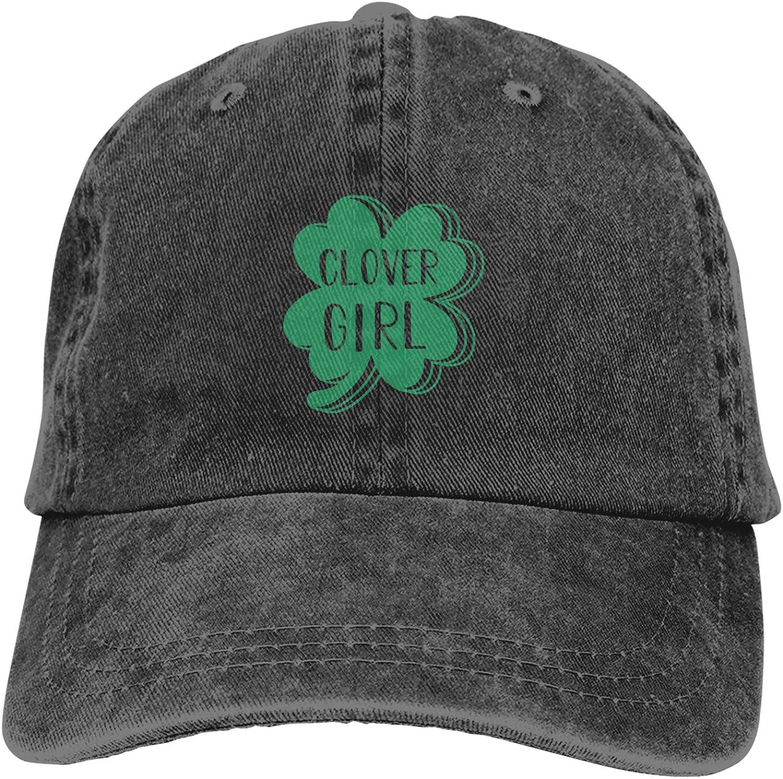 Clover Girl Unisex Adjustable Cowboy Hat Adult Cotton Baseball Cap