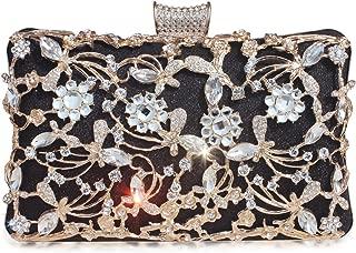 Womens Beaded Crystal Clutch Rhinestone Evening Bag Wedding Bridal Prom Purse.