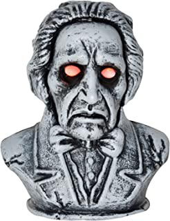 One Holiday Way Animated Talking Bust Halloween Decoration Party Prop Haunted Accessory with Light-Up Eyes
