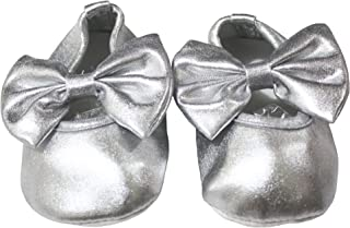 Petitebella Baby Shoes Polyester Bow Crib Shoes for Unisex Baby