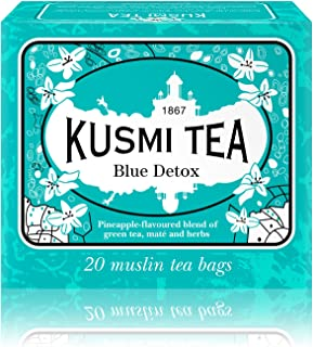 Kusmi Tea - Blue Detox - A Blend of Green Tea, Mate, and Rooibos with Savory Pineapple - All Natural, Sugar Free, Preserva...