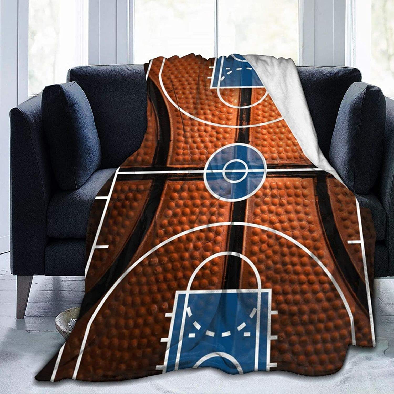 Basketball Court Max 61% OFF Spasm price Ultra-Soft Micro Blanket Flannel Fleece Lightw