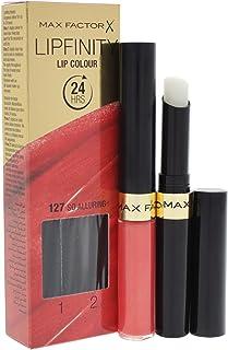 Max Factor Lipfinity - Barra de labios resistente a la transferencia 127 So Alluring 2.3 ml + 1.9 g Coral