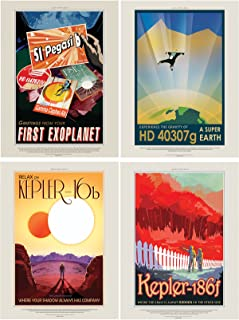 Doppelganger33 LTD NASA POSTER SPACE EXOPLANET TRAVEL ADVERT PACK x 7 POSTERS ART PRINTS